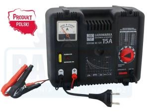 Ładowarka (prostownik) do akumulatorów 6/12V z płynną regulacją 15A