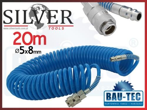 315ae6c8902596 Wąż spiralny pneumatyczny 20m 5x8mm - Sklep BAU-TEC